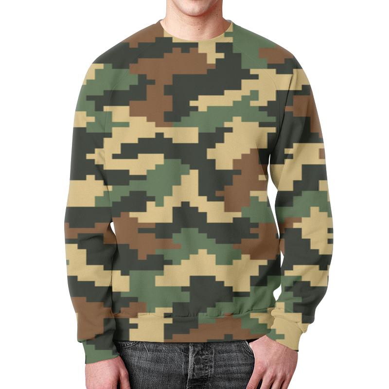 Свитшот мужской с полной запечаткой Printio Camouflage camouflage print ankle leggings