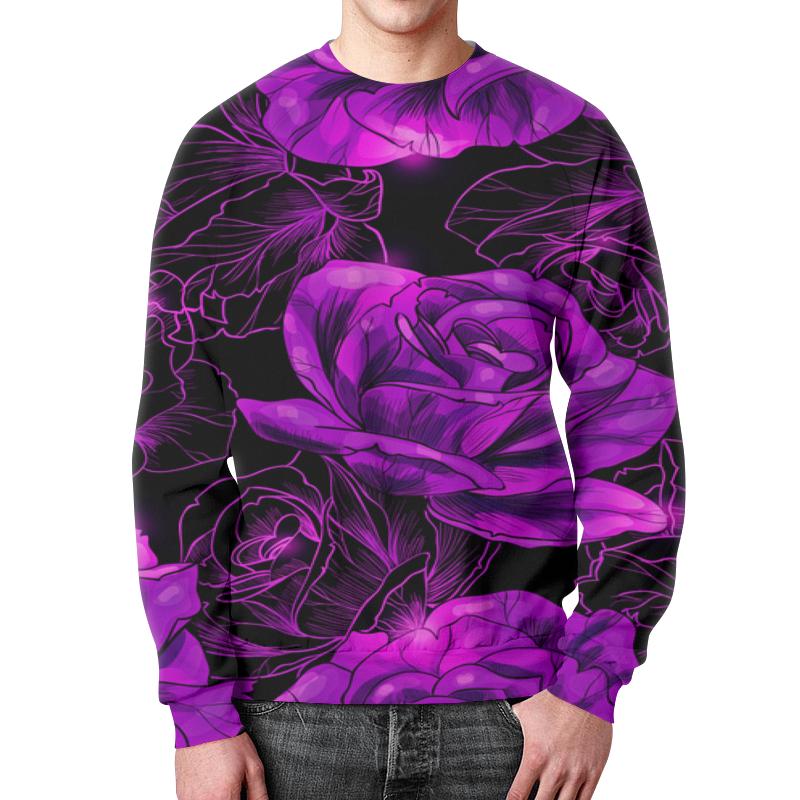 Свитшот унисекс с полной запечаткой Printio Розы в цвету цена