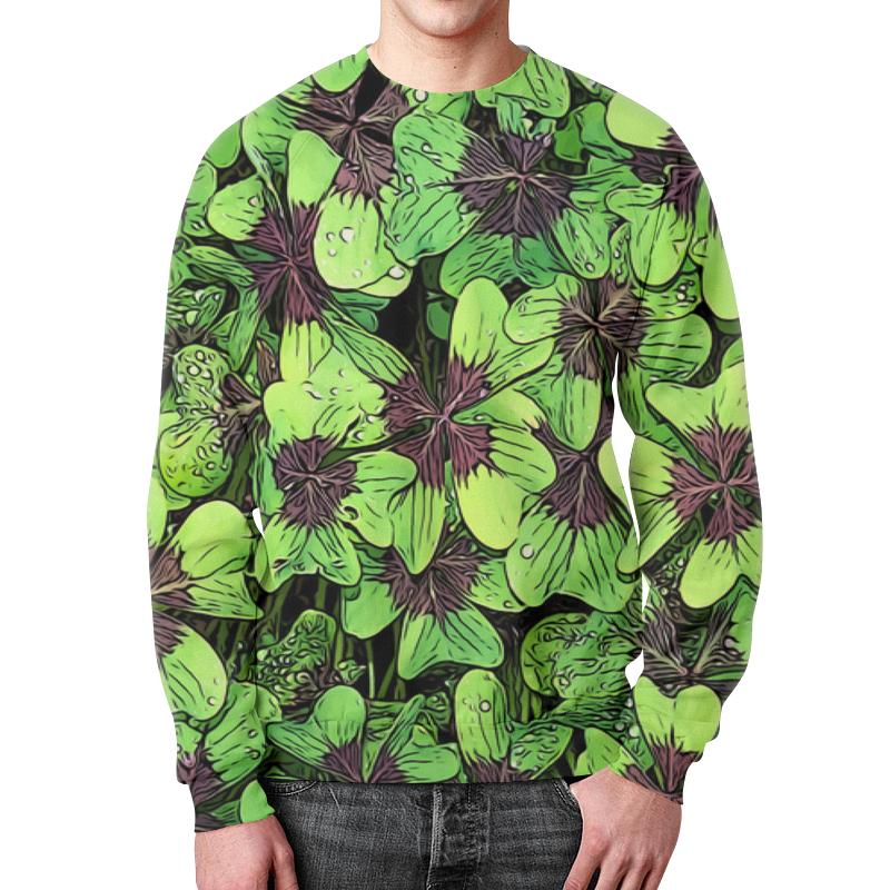 Фото - Printio Зеленые цветы свитшот мужской с полной запечаткой printio зеленые линии