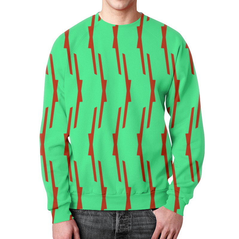 Свитшот мужской с полной запечаткой Printio Красные полосы свитшот мужской с полной запечаткой printio зелено красные линии