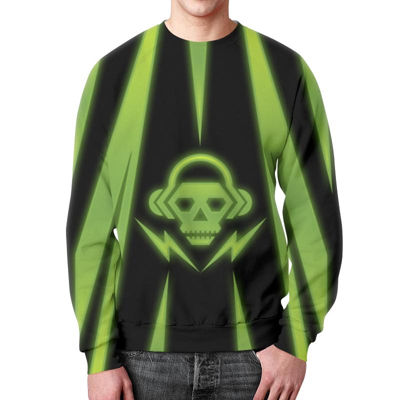 Свитшот мужской с полной запечаткой Printio Skull skull off the shoulder tunic sweater