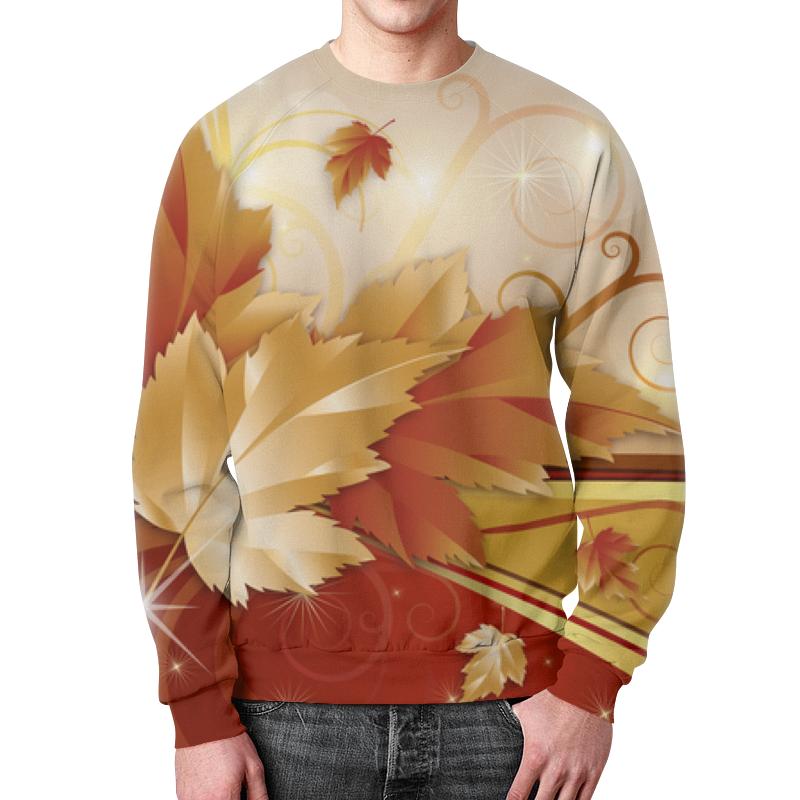 Свитшот мужской с полной запечаткой Printio Осенние листья dfc r 180 прямой