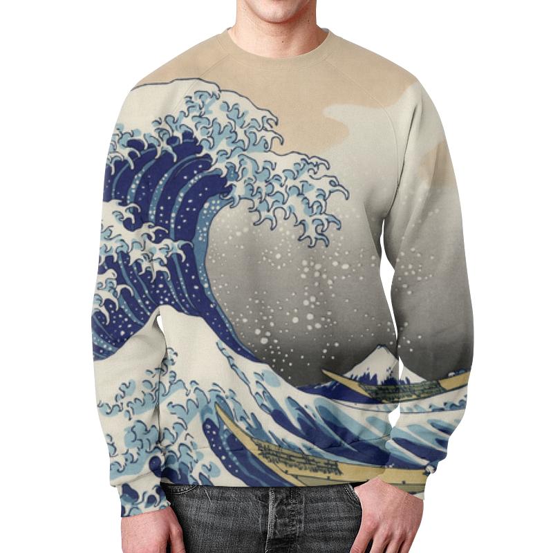 Свитшот унисекс с полной запечаткой Printio Japanese wave