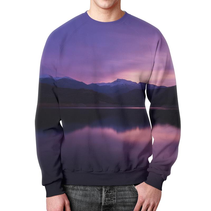 Свитшот унисекс с полной запечаткой Printio Фиолетовый пейзаж минимойка huter w105 ar [70 8 8]