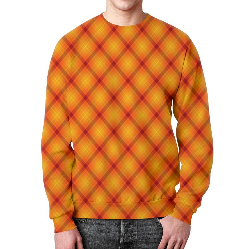 Свитшот унисекс с полной запечаткой Printio Клетка оранжевая футболка с полной запечаткой женская printio оранжевая клетка