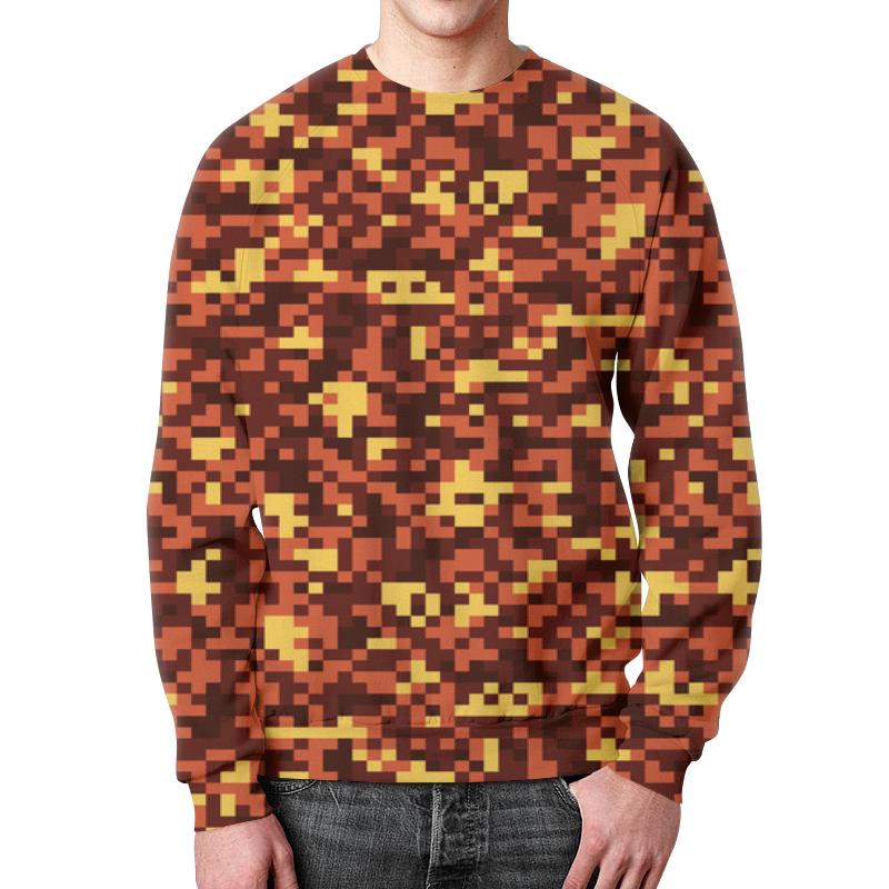 Свитшот мужской с полной запечаткой Printio Pixel camouflage бомбер printio pixel camouflage