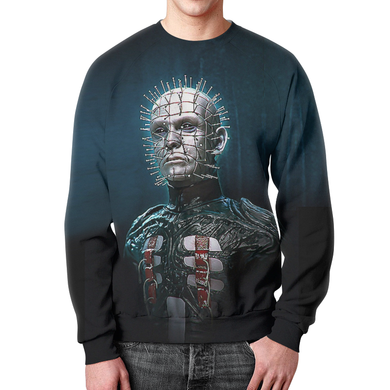 Свитшот мужской с полной запечаткой Printio Hellraiser design 1 6 scale figure hellraiser iii hell on earth horrible pinhead 12 action figure doll collectible model plastic toy