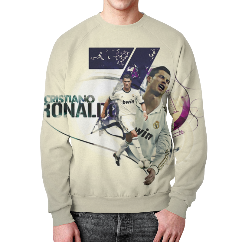 Свитшот унисекс с полной запечаткой Printio Cristiano ronaldo (1) футболка классическая printio cristiano ronaldo