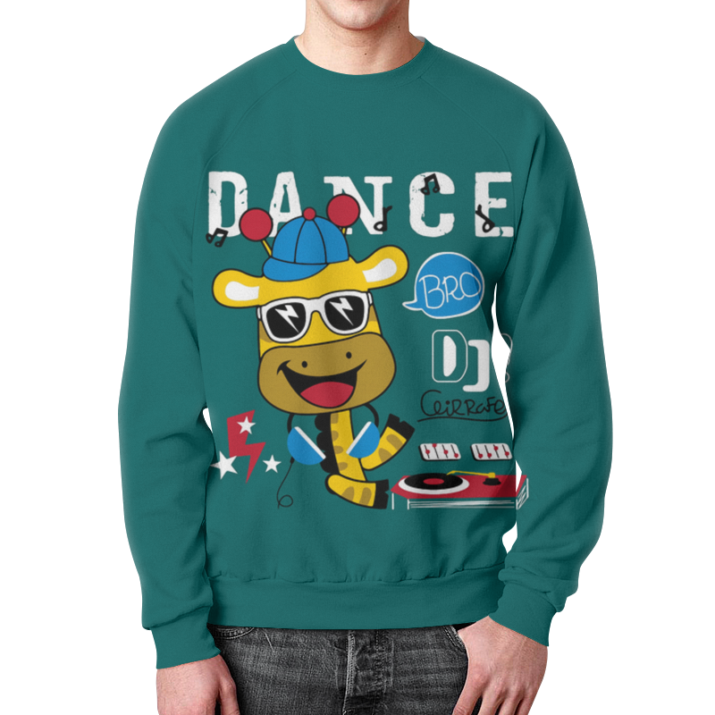 Свитшот унисекс с полной запечаткой Printio Dance видеоигра для ps4 just dance 2018