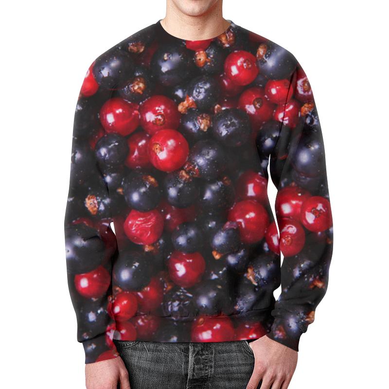 Свитшот унисекс с полной запечаткой Printio Ягодки бусы из хрусталя ягодки