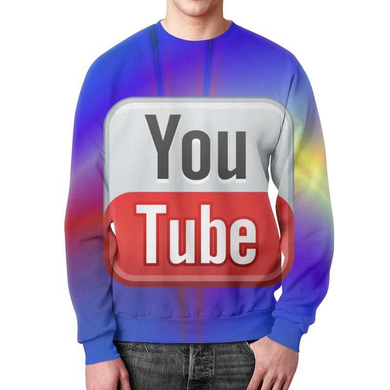 Свитшот мужской с полной запечаткой Printio Youtube youtube в полиции 2017 11 12t19 00