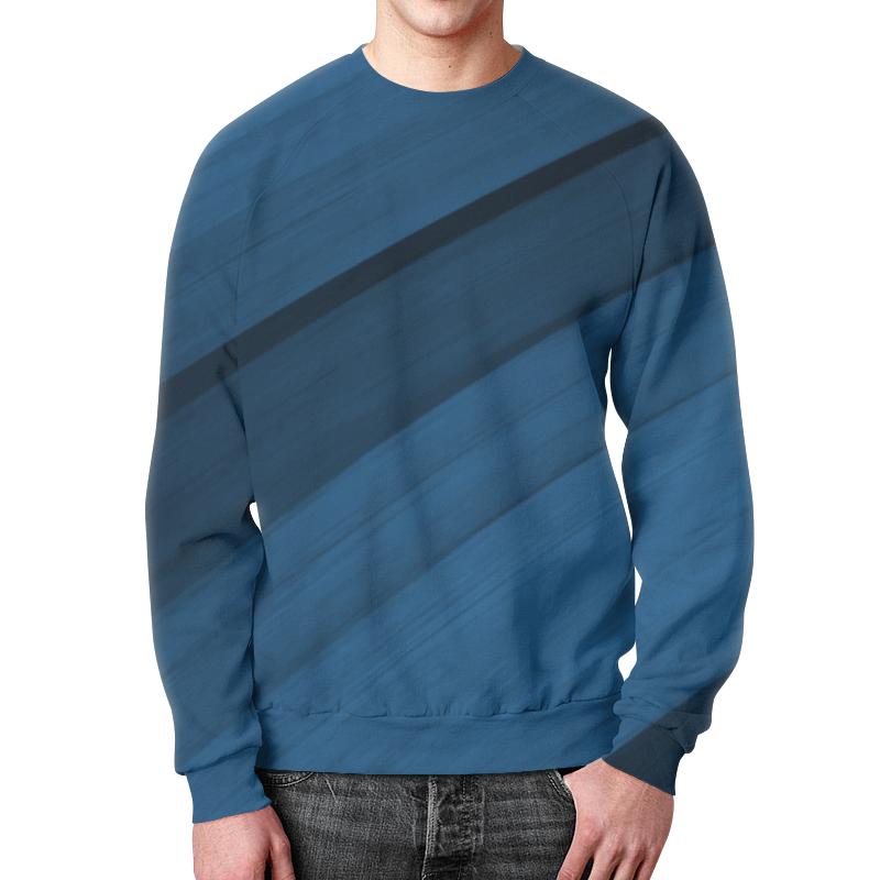 Свитшот мужской с полной запечаткой Printio Синяя абстракция сумка с полной запечаткой printio синяя абстракция