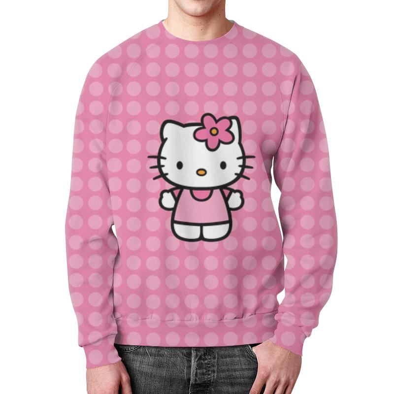 Фото - Свитшот мужской с полной запечаткой Printio Kitty в горошек свитшот print bar в горошек
