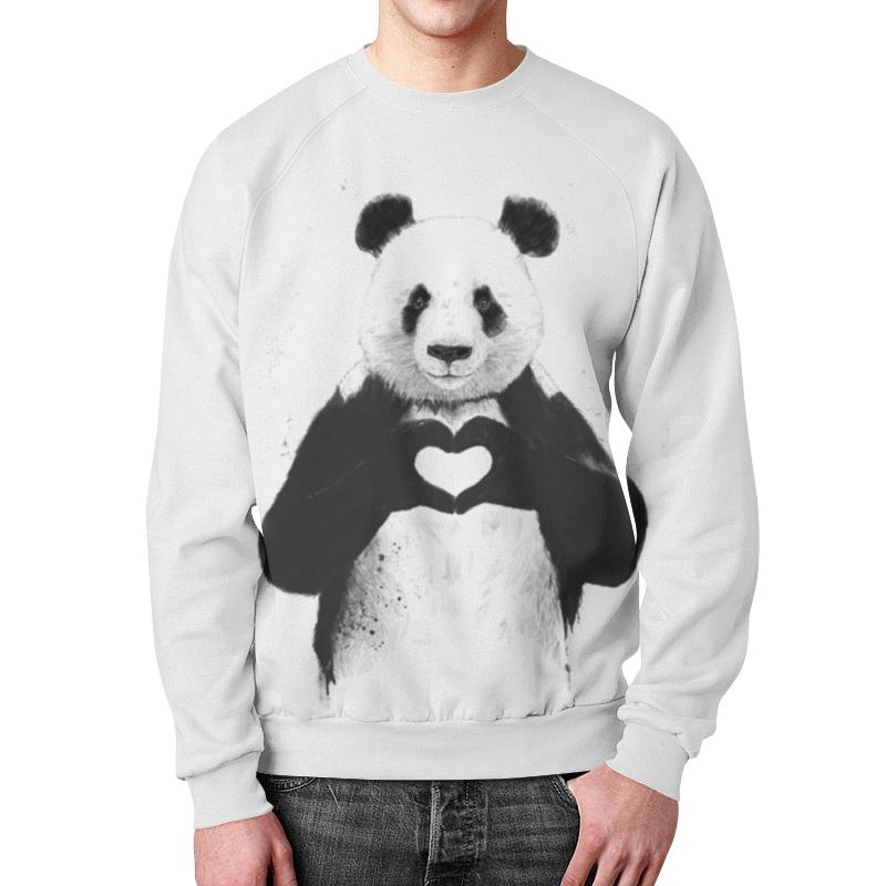 Свитшот мужской с полной запечаткой Printio Панда с сердцем свитшот унисекс с полной запечаткой printio панда коп