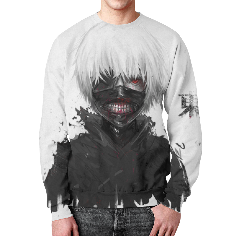 Свитшот мужской с полной запечаткой Printio Кэн канэки футболка с полной запечаткой для мальчиков printio кэн канэки