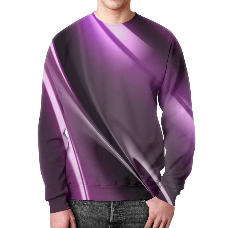 Свитшот унисекс с полной запечаткой Printio Фиолетовые линии футболка с полной запечаткой женская printio фиолетовые линии