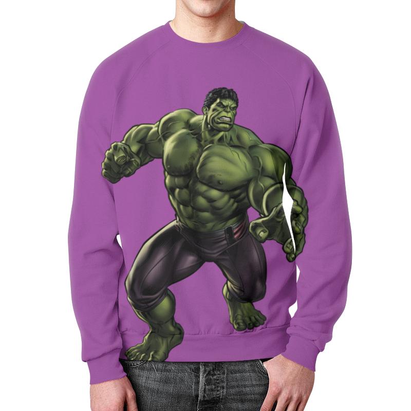 Свитшот мужской с полной запечаткой Printio Халк (hulk) лонгслив printio халк hulk