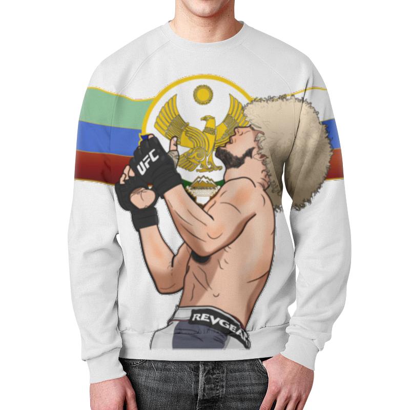Свитшот мужской с полной запечаткой Printio Ufc хабиб нурмагомедов рубашка поло printio хабиб нурмагомедов