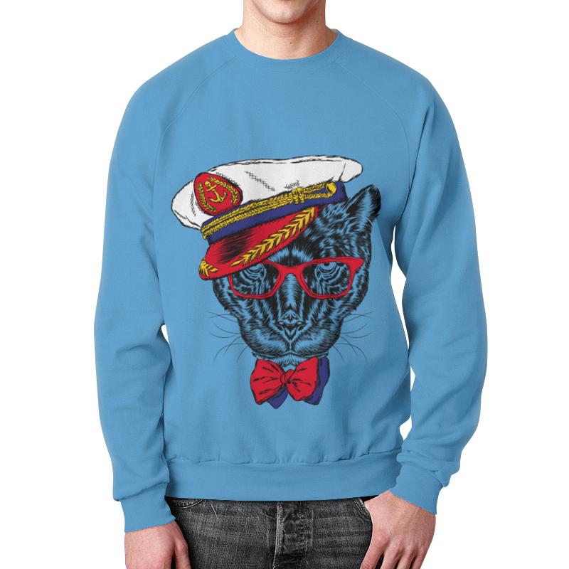 Свитшот унисекс с полной запечаткой Printio Кот - мореход рубашка поло printio кот мореход