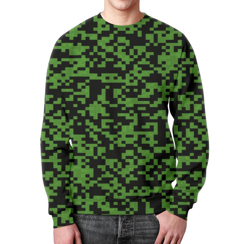 Свитшот мужской с полной запечаткой Printio Gray pixel свитшот print bar pixel ezio