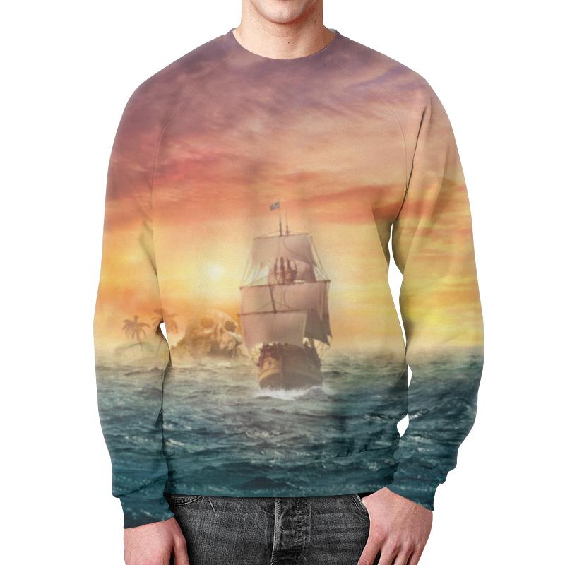 Свитшот мужской с полной запечаткой Printio Морские приключения свитшот print bar морские мечты