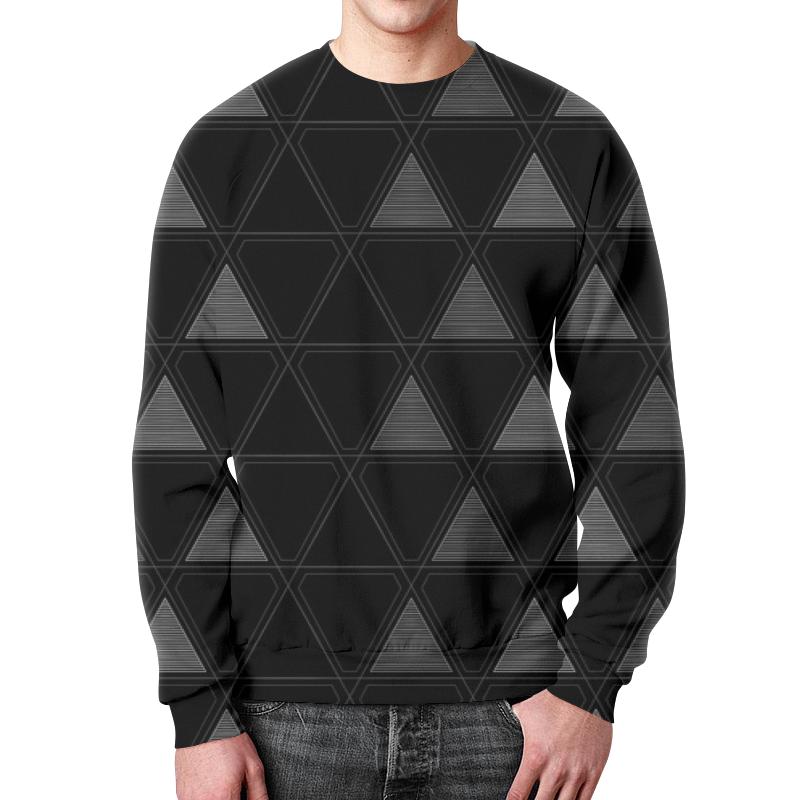Свитшот унисекс с полной запечаткой Printio Треугольник черный треугольник