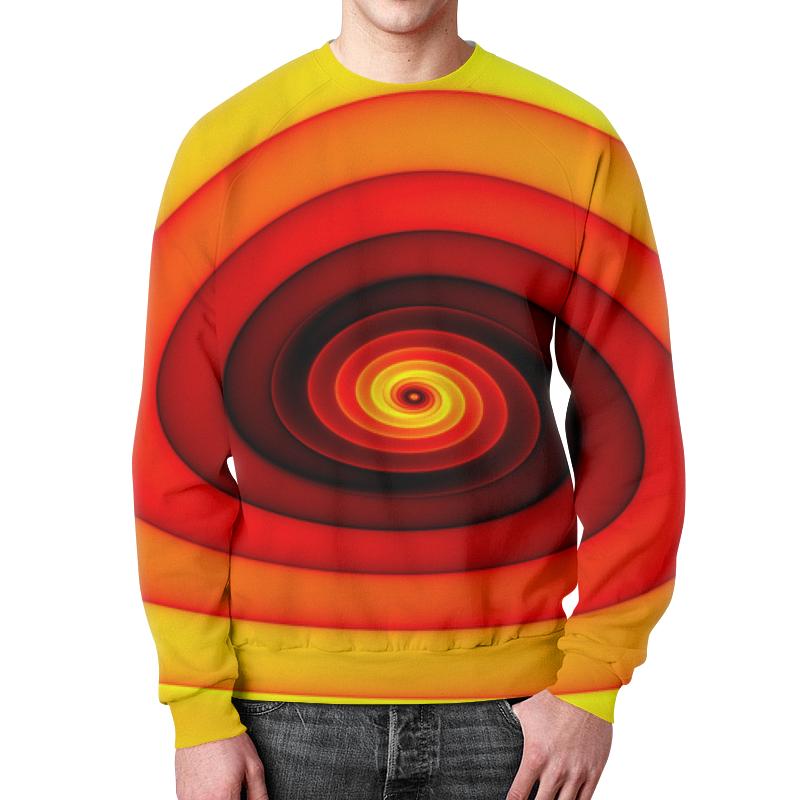 Свитшот мужской с полной запечаткой Printio Абстракт пуховик мужской xaska цвет красный 14414 размер 48