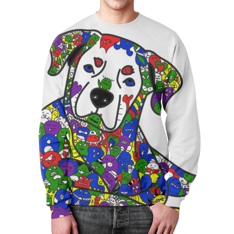 Свитшот мужской с полной запечаткой Printio Собака из дудл монстров толстовка с полной запечаткой printio собака из дудл монстров
