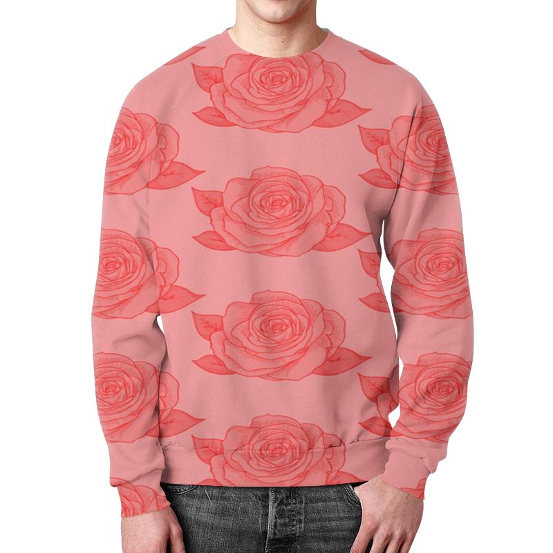Свитшот мужской с полной запечаткой Printio Узор роз борцовка с полной запечаткой printio узор роз