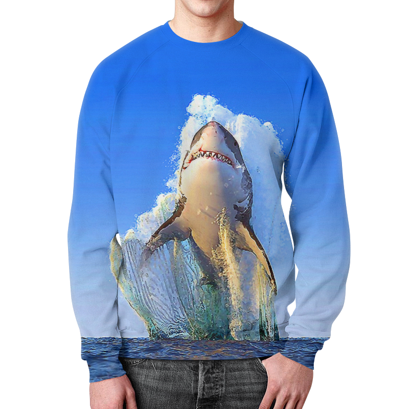 Свитшот мужской с полной запечаткой Printio Shark team свитшот мужской с полной запечаткой printio navalny team 20 8 1