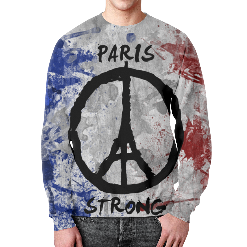 Свитшот унисекс с полной запечаткой Printio Париж сильный (мир парижу)