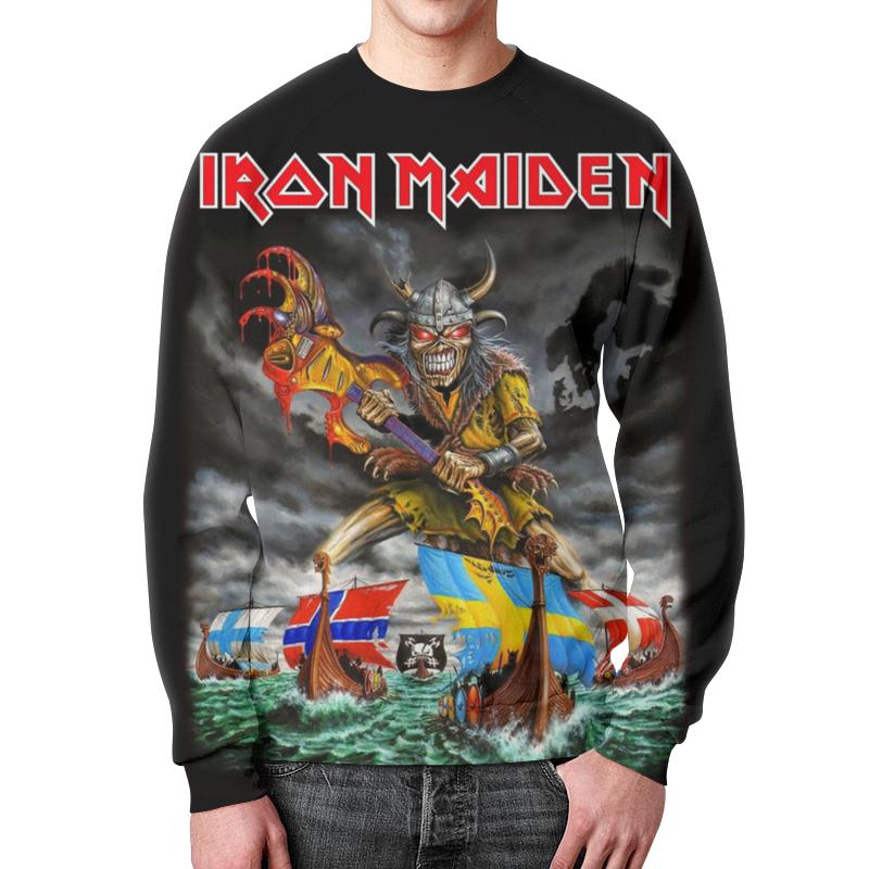 Свитшот мужской с полной запечаткой Printio Iron maiden band футболка с полной запечаткой мужская printio iron maiden