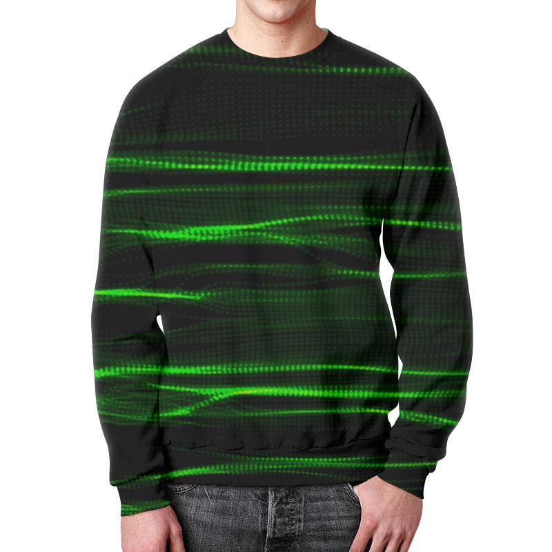 Свитшот мужской с полной запечаткой Printio Зеленые линии юбка в складку printio зеленые линии