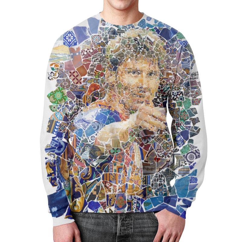 Printio Месси свитшот мужской с полной запечаткой printio яркая мозаика