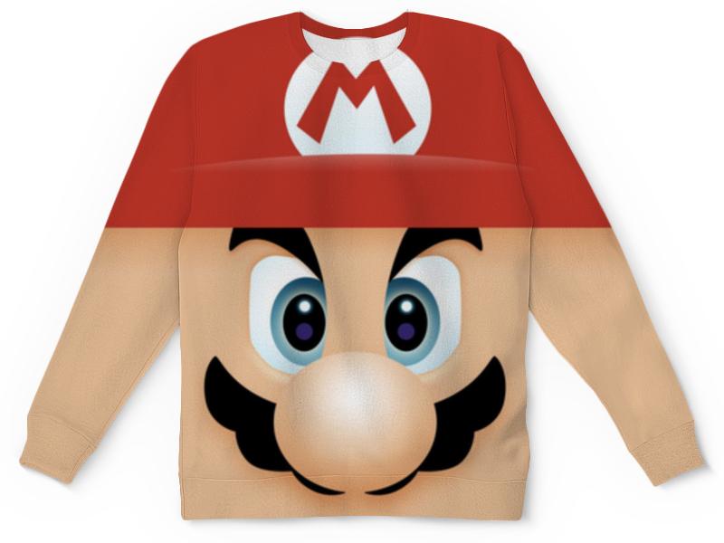 цена на Свитшот унисекс с полной запечаткой Printio Марио (mario)