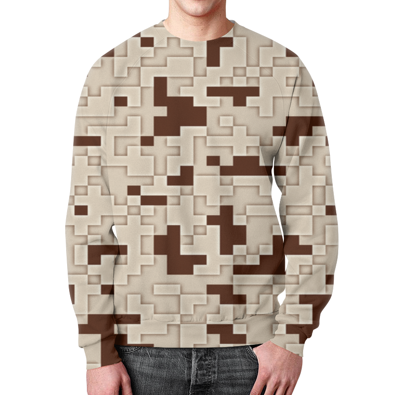 Свитшот унисекс с полной запечаткой Printio Retro camouflage свитшот унисекс с полной запечаткой printio guano apes