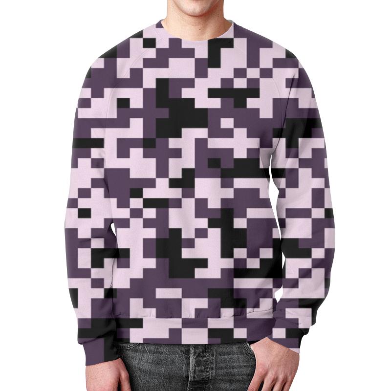 Свитшот унисекс с полной запечаткой Printio Пиксели розовые свитшот унисекс с полной запечаткой printio голубые пиксели