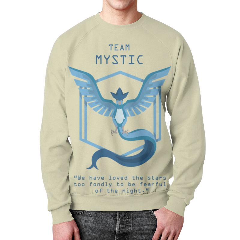 Printio Team mystic свитшот мужской с полной запечаткой printio pokemon go