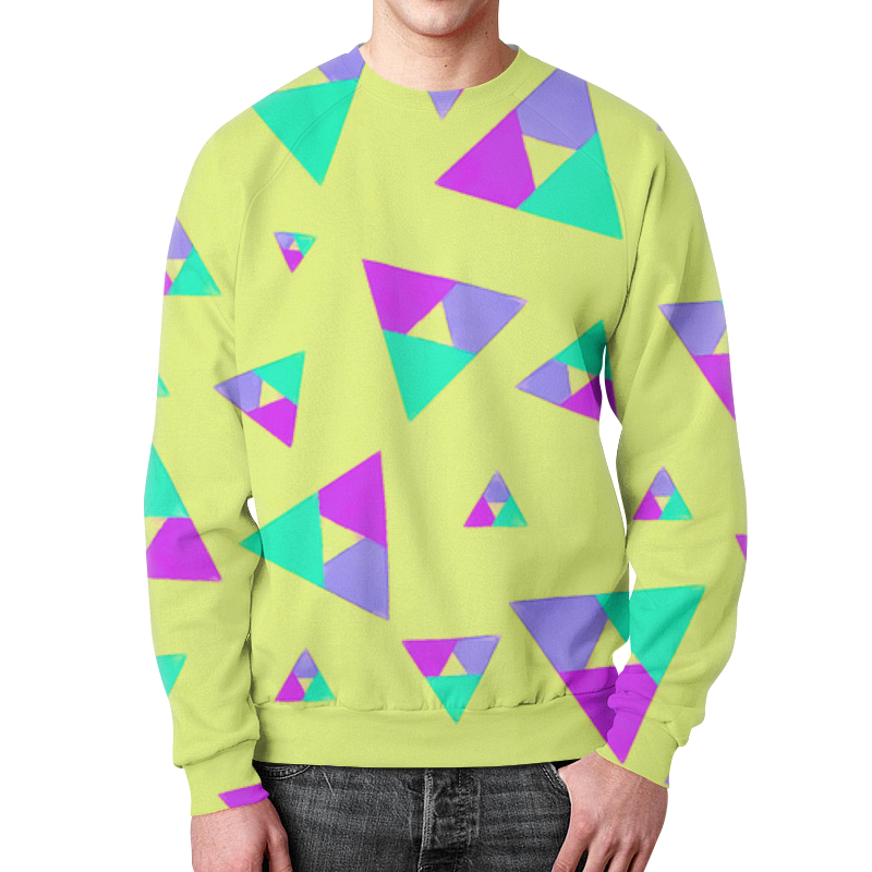 Свитшот мужской с полной запечаткой Printio Треугольники 1 юбка карандаш printio треугольники