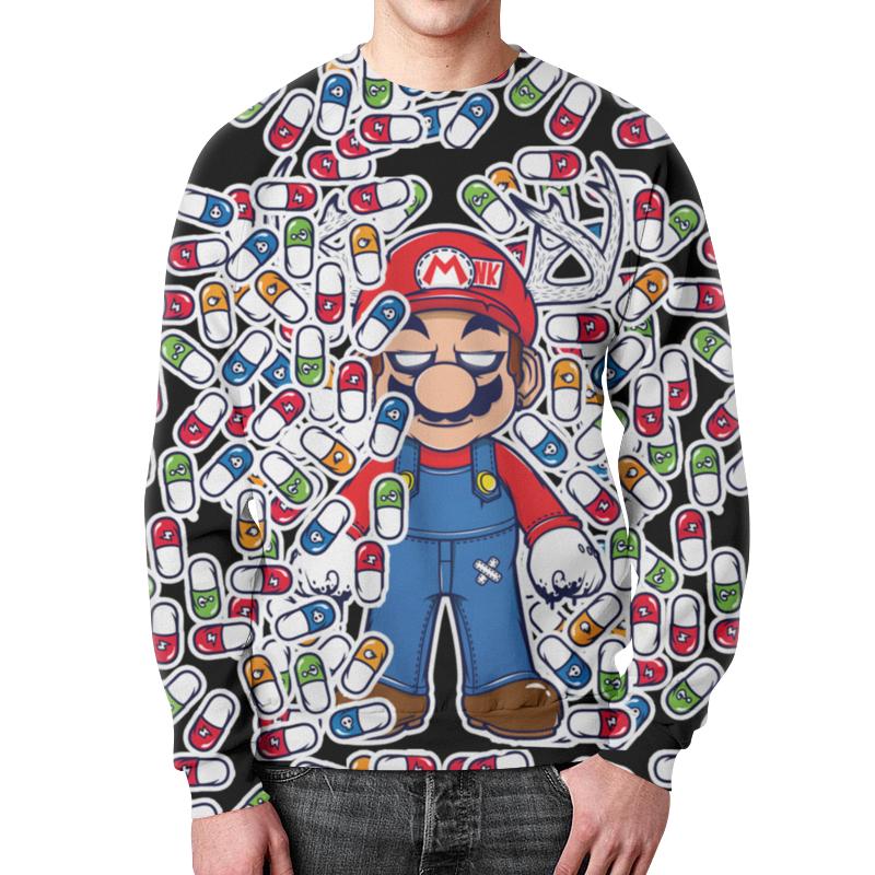 Свитшот мужской с полной запечаткой Printio Марио цена и фото