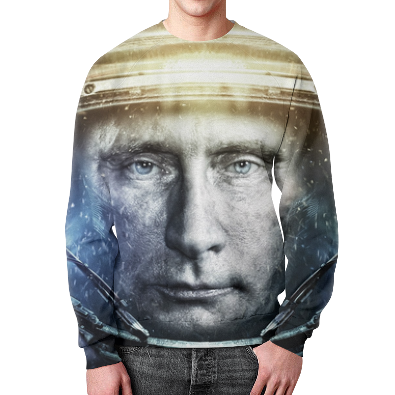 Свитшот мужской с полной запечаткой Printio Владимир владимирович путин , путин свитшот print bar путин deep techno