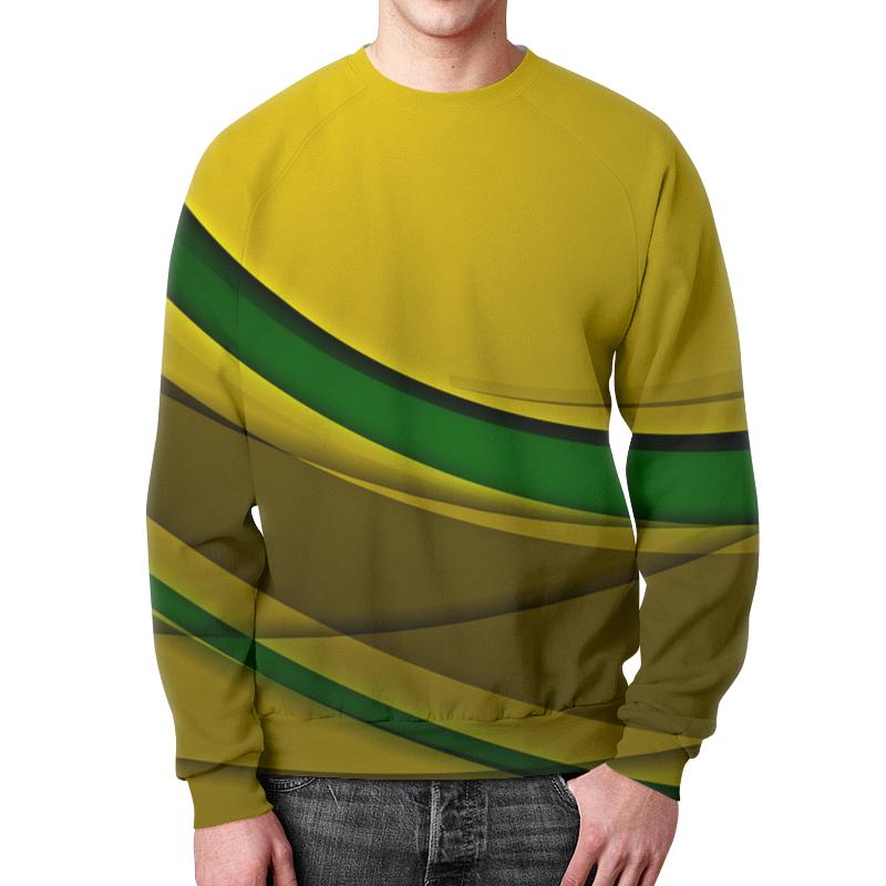 Свитшот мужской с полной запечаткой Printio Линии свитшот мужской с полной запечаткой printio зелено красные линии