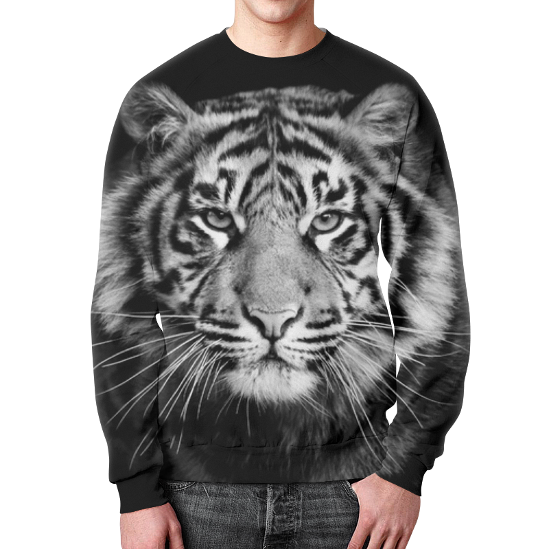 Свитшот мужской с полной запечаткой Printio Амурский тигр футболка с полной запечаткой мужская printio амурский тигр