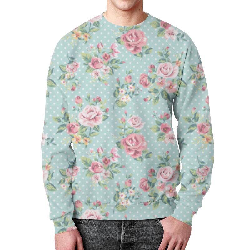 Свитшот мужской с полной запечаткой Printio Flowers robert mapplethorpe flowers