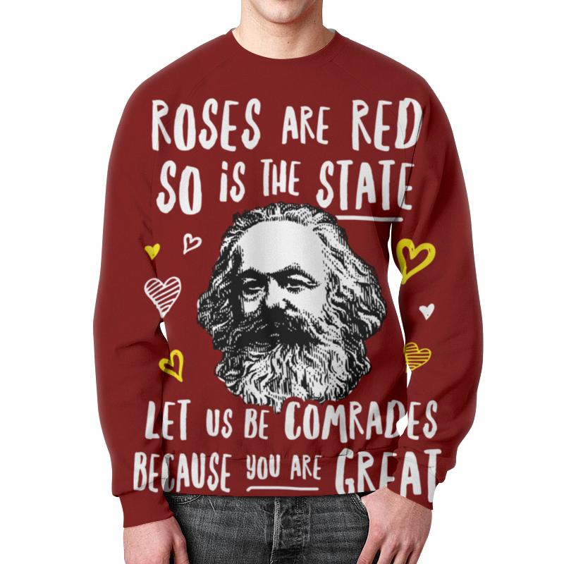 Свитшот унисекс с полной запечаткой Printio Розы красные, как наше государство. янош л о как ты прекрасна панама