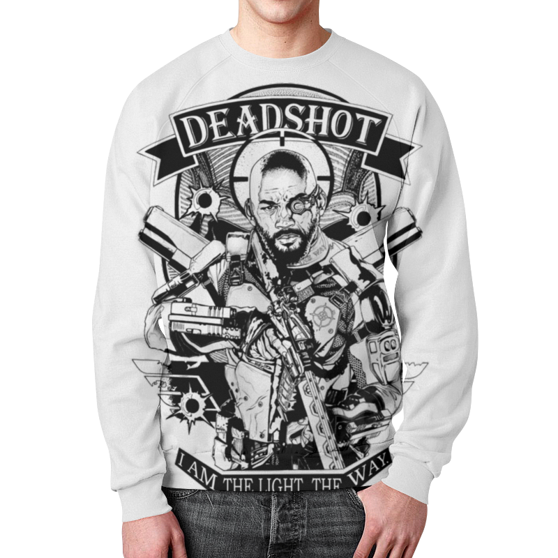 Свитшот мужской с полной запечаткой Printio Deadshot deadshot bulletproof