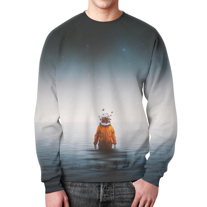 Свитшот мужской с полной запечаткой Printio Space in ocean toys in space