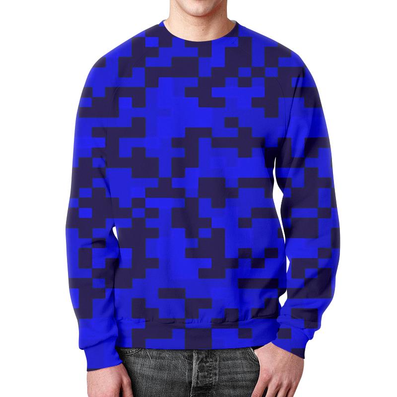 Свитшот унисекс с полной запечаткой Printio Синий камуфляж