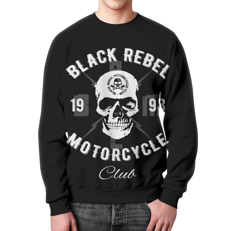 Свитшот унисекс с полной запечаткой Printio Black rebel motorcycle club free shipping natural size model study dental tooth teeth dentist dentistry anatomical anatomy model odontologia