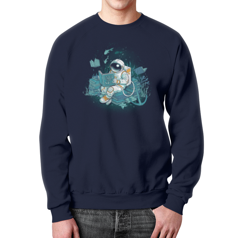 Свитшот мужской с полной запечаткой Printio Морская глубина свитшот print bar мечты астронавта